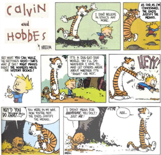 ethical relativism and calvin and hobbes Summary of augustine, aquinas, hobbes, descartes, spinoza calvin, hobbes, descartes, spinoza, hume, and rousseau ethics – relativism ethics – religion.